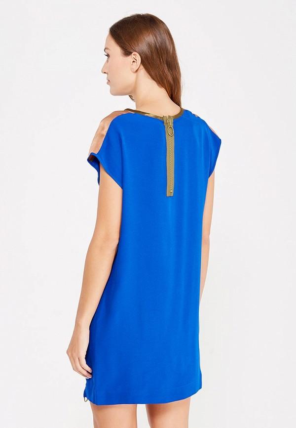 Фото 3 - женское платье Sisley синего цвета