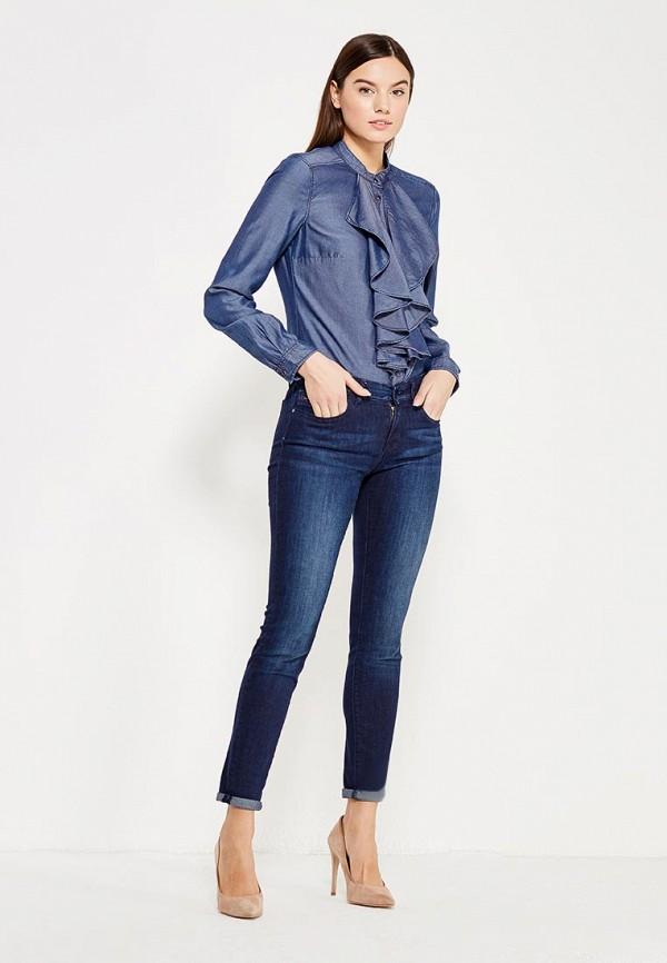 Фото 2 - женскую блузку Sisley синего цвета