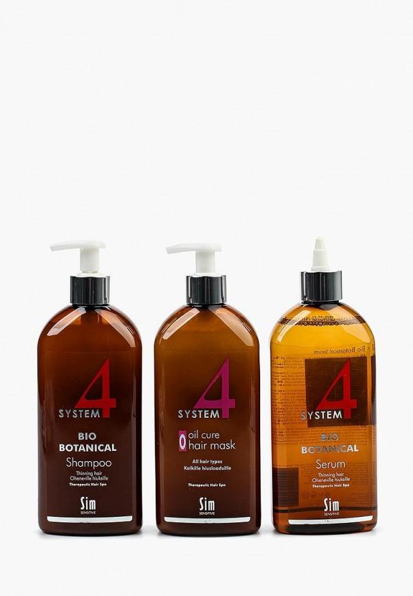 Набор для ухода за волосами Sim Sensitive, от выпадения SYSTEM 4, 500 мл, SI024LWPLI33, Осень-зима 2018/2019  - купить со скидкой