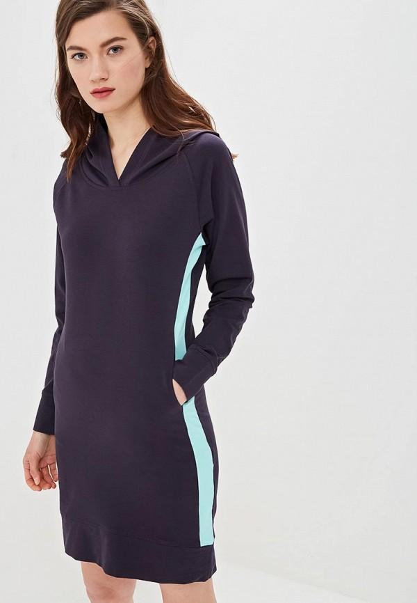 Фото 4 - женское платье Sitlly синего цвета