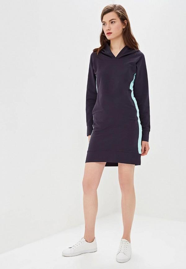Фото 5 - женское платье Sitlly синего цвета