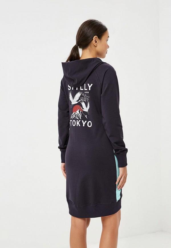 Фото 3 - женское платье Sitlly синего цвета