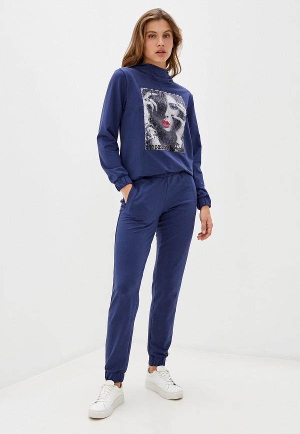 женский спортивный костюм sitlly, синий