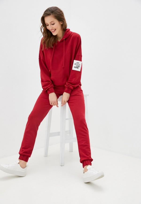 женский спортивный костюм sitlly, бордовый