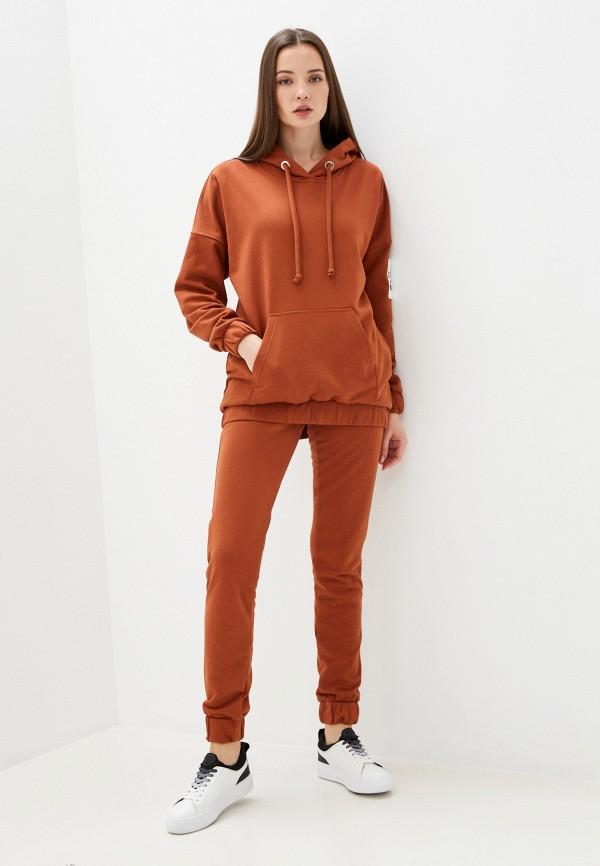 женский спортивный костюм sitlly, коричневый