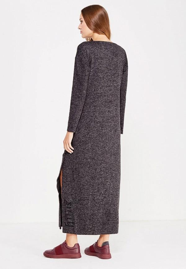Фото 3 - женское платье Sitlly черного цвета