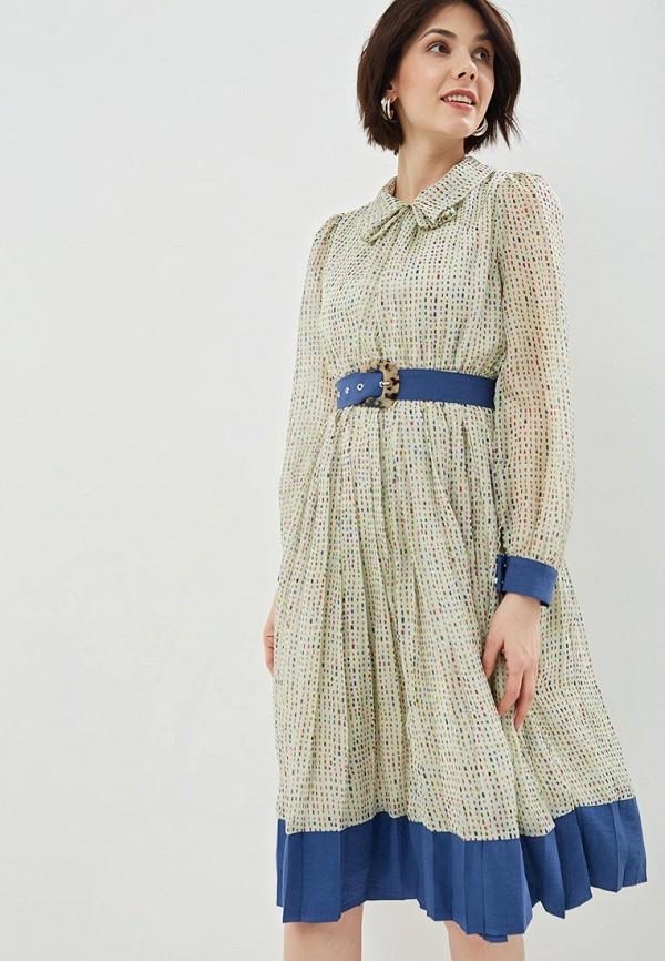 женское повседневные платье sister jane, зеленое