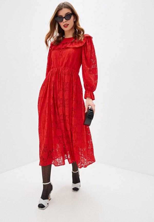 женское вечерние платье sister jane, красное