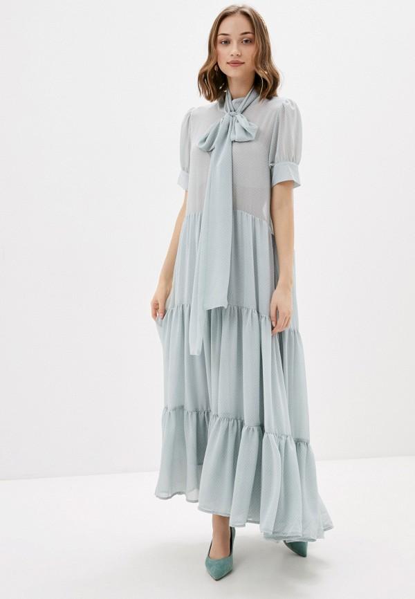 женское повседневные платье sister jane, голубое