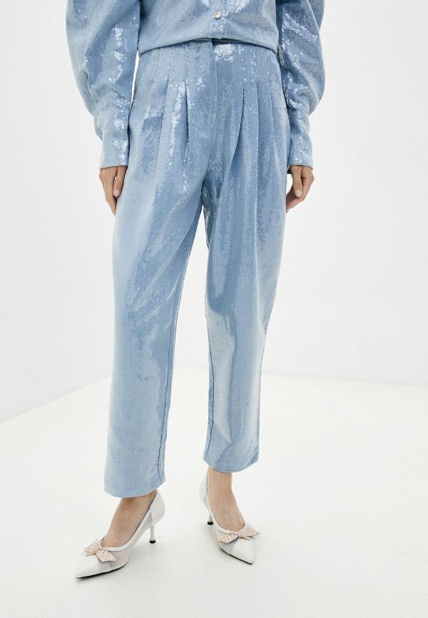 женские повседневные брюки sister jane, голубые