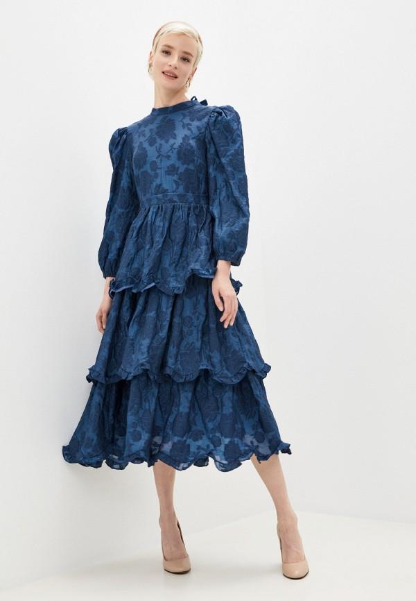 женское повседневные платье sister jane, синее