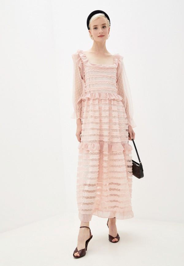 женское вечерние платье sister jane, розовое