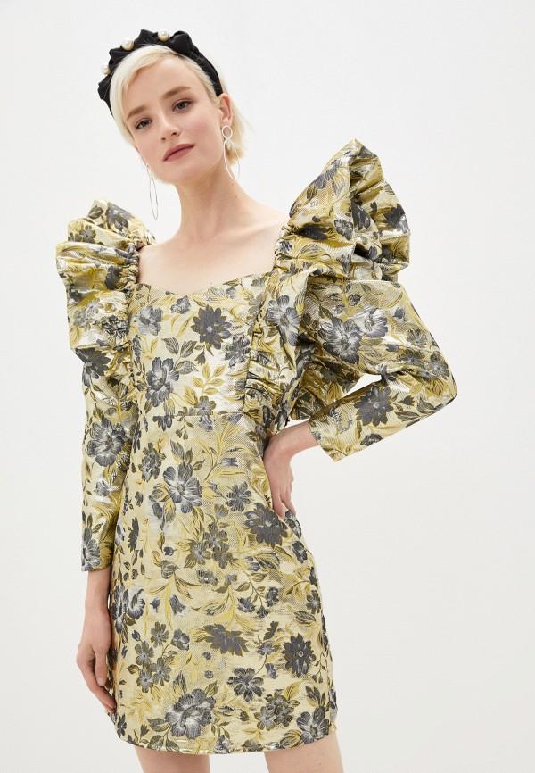 женское вечерние платье sister jane, золотое
