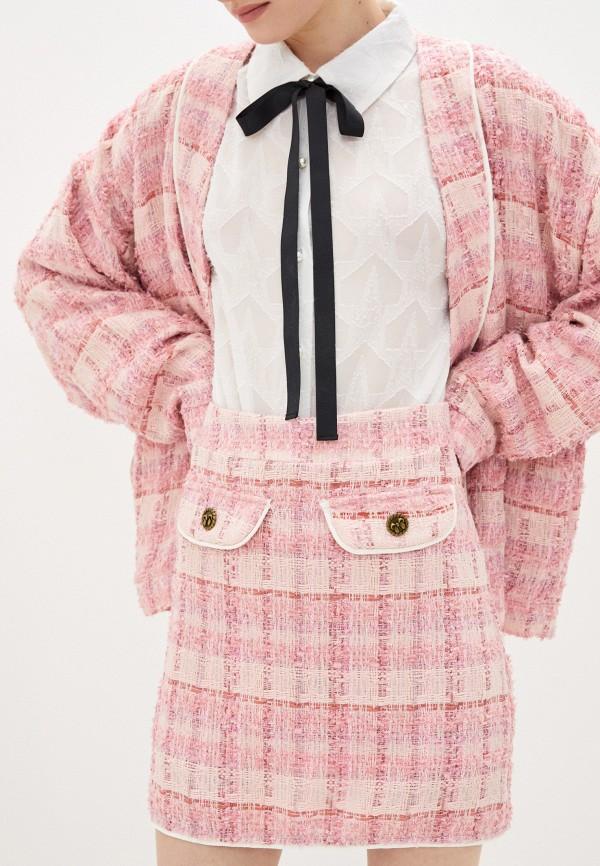 женская прямые юбка sister jane, розовая