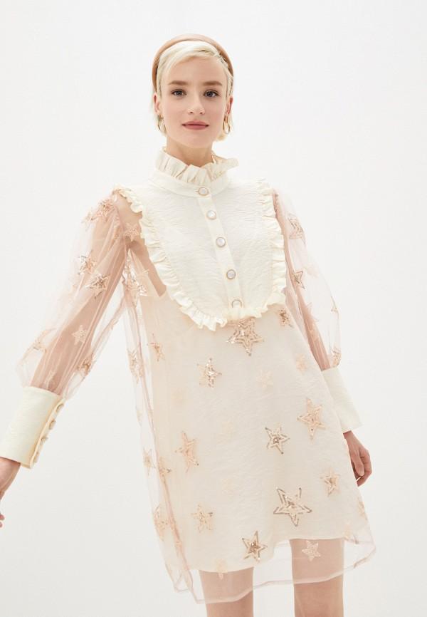 женское повседневные платье sister jane, бежевое