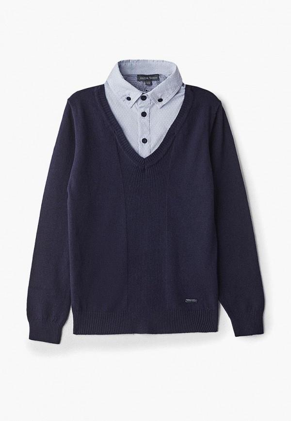 пуловер silver spoon для мальчика, синий