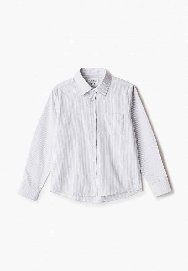 рубашка silver spoon для мальчика, серая