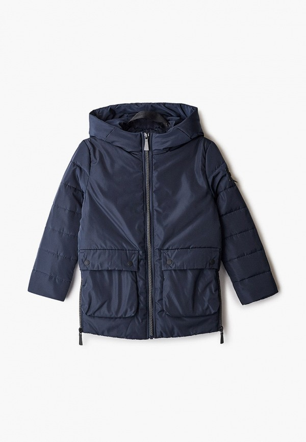 утепленные куртка silver spoon для мальчика, синяя