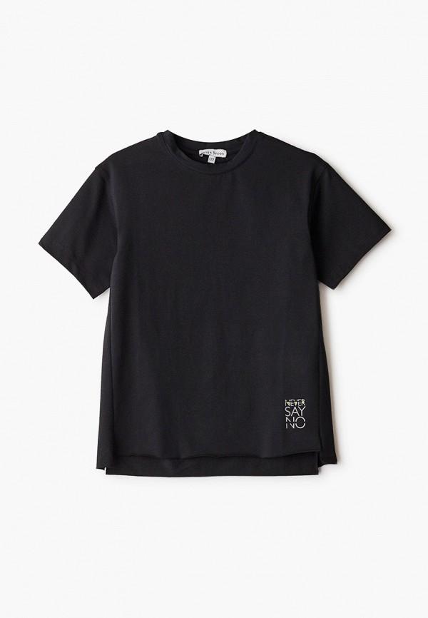 футболка с коротким рукавом silver spoon для мальчика, черная