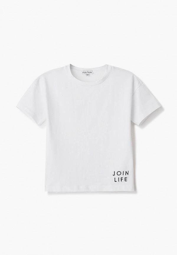 футболка с коротким рукавом silver spoon для мальчика, белая
