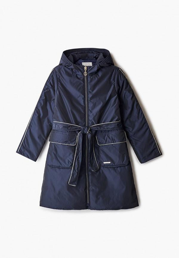 утепленные куртка silver spoon для девочки, черная