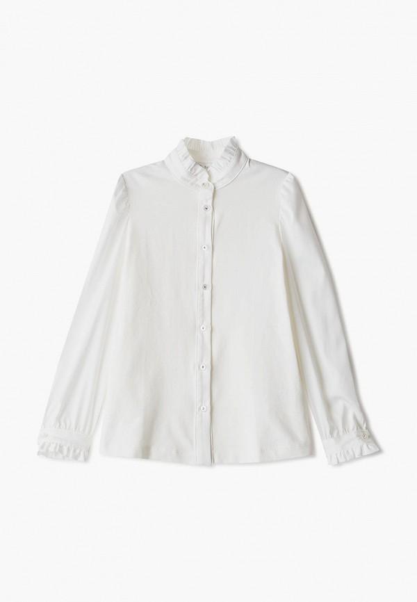 блузка silver spoon для девочки, бежевая