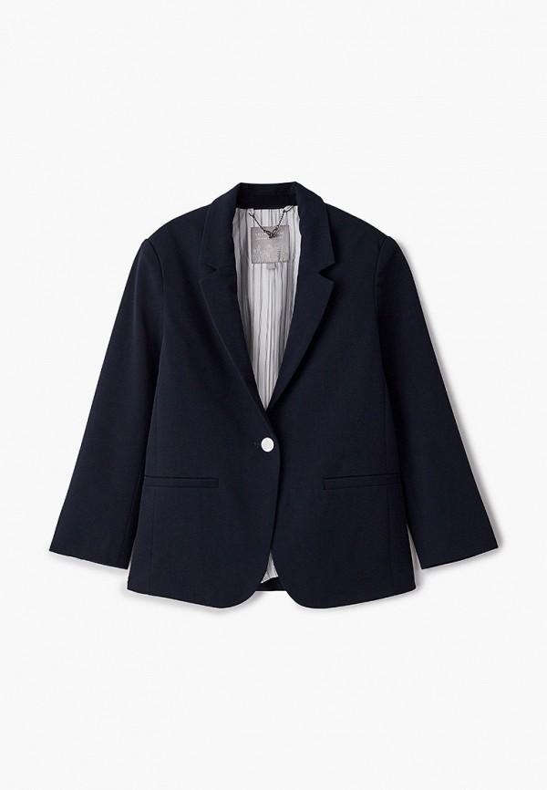 пиджак silver spoon для девочки, синий