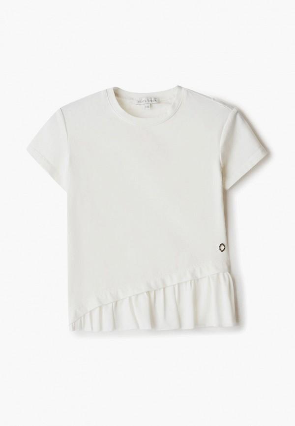 футболка с коротким рукавом silver spoon для девочки, белая