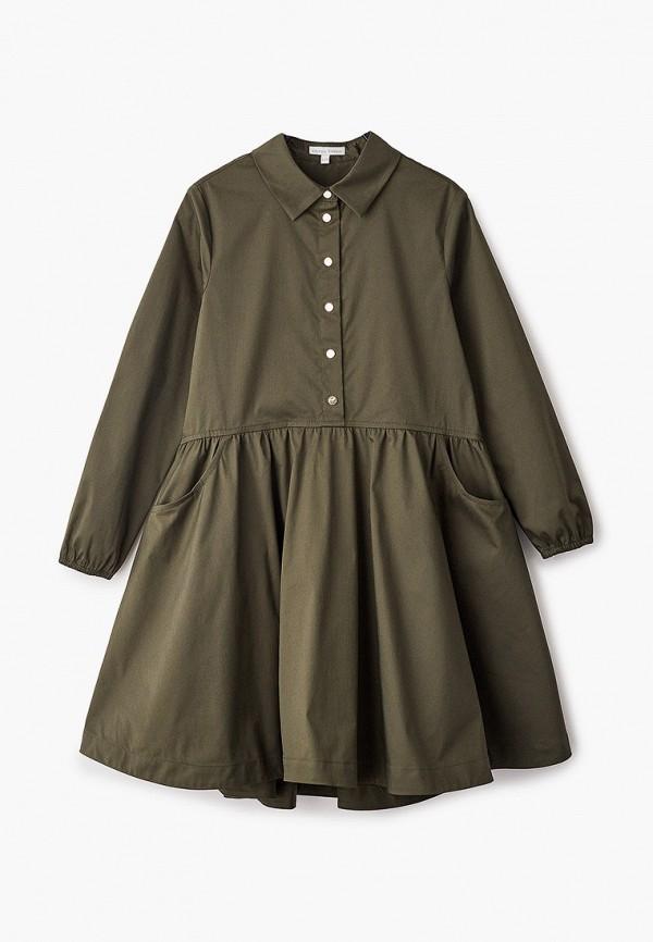 повседневные платье silver spoon для девочки, хаки