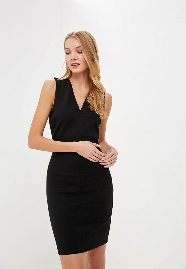 женское платье-футляр silvian heach, черное