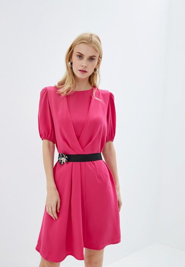 женское вечерние платье silvian heach, розовое