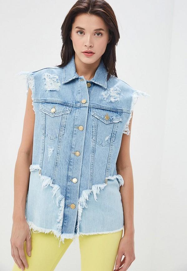 женский джинсовые жилет silvian heach, голубой
