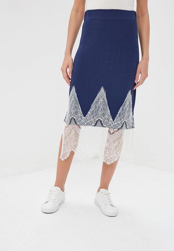 женская прямые юбка silvian heach, синяя