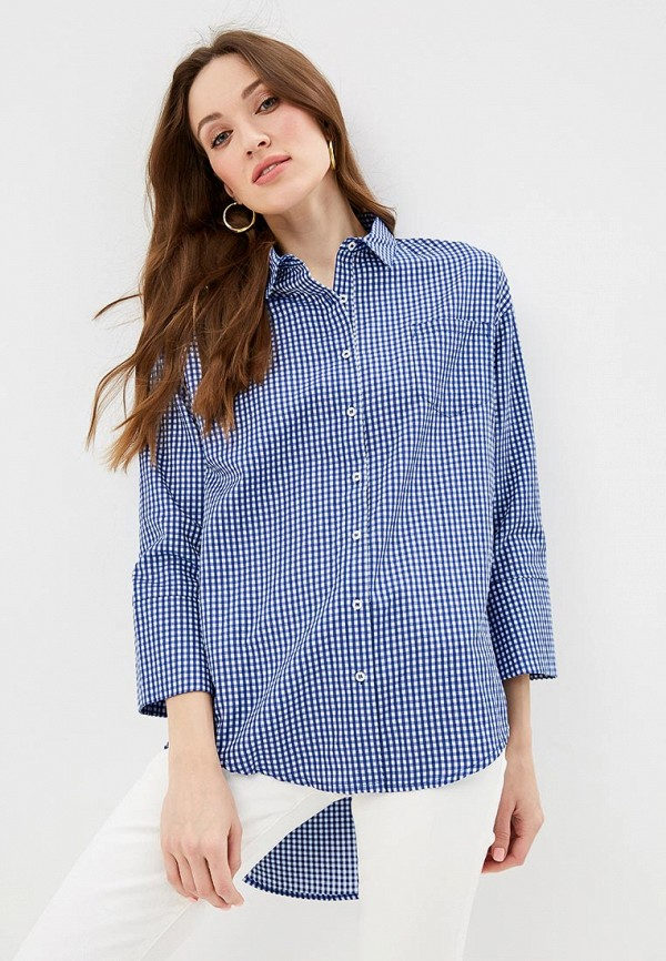 женская рубашка с длинным рукавом silvian heach, синяя