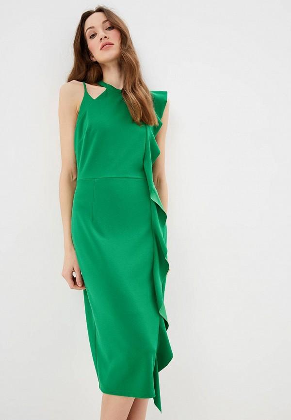 женское вечерние платье silvian heach, зеленое