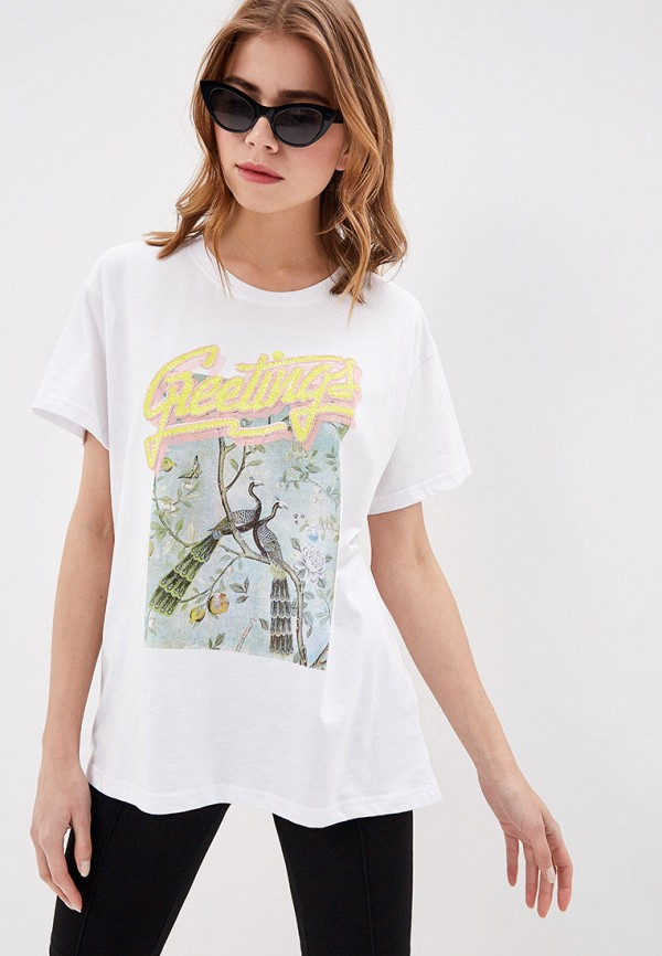 женская футболка silvian heach, белая