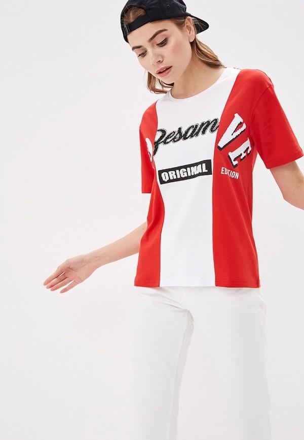 женская футболка silvian heach, красная