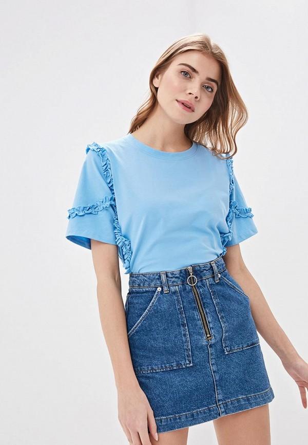 женская футболка silvian heach, голубая