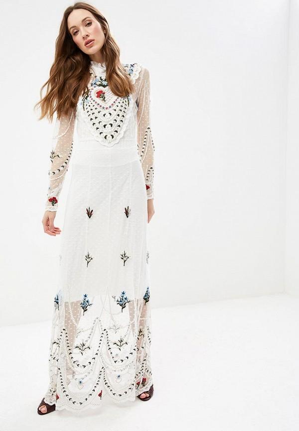 женское вечерние платье silvian heach, белое