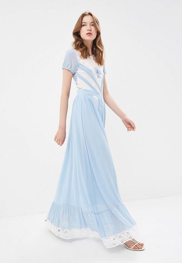 женское вечерние платье silvian heach, голубое