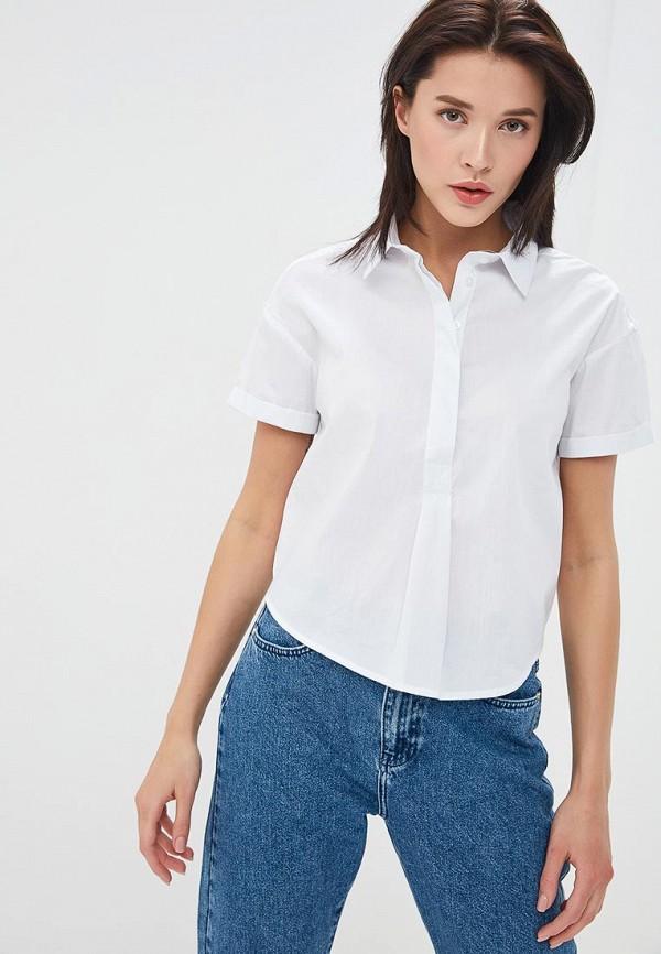 женская рубашка с коротким рукавом silvian heach, белая