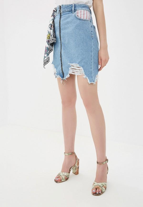 женская юбка silvian heach, голубая
