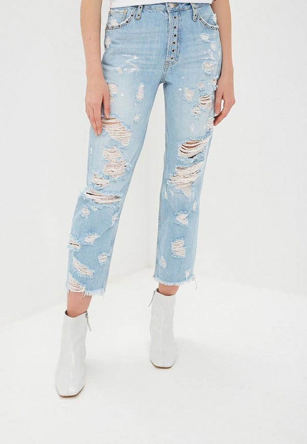 женские прямые джинсы silvian heach, голубые