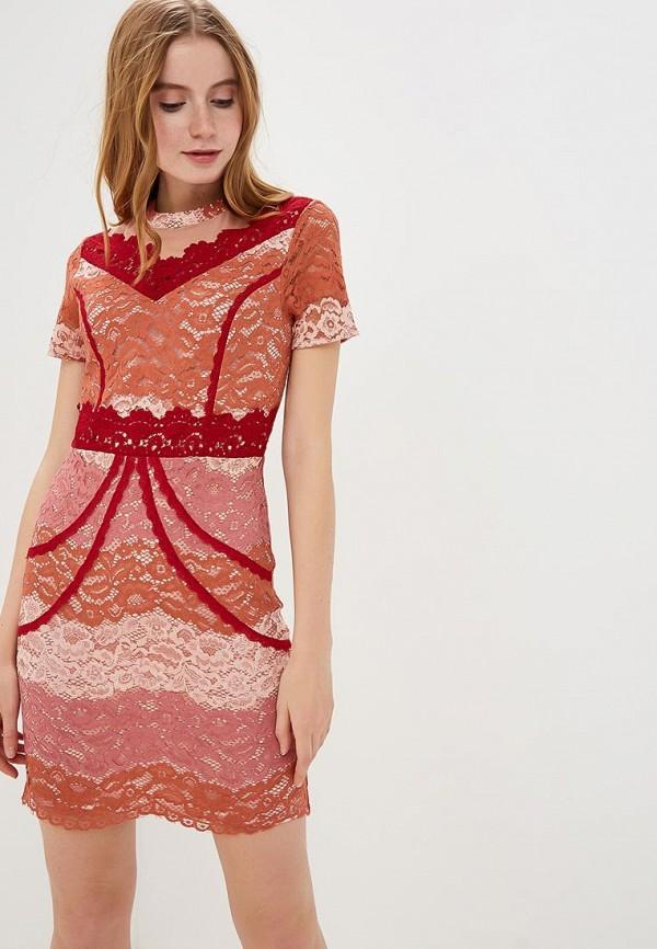 женское повседневные платье silvian heach, розовое