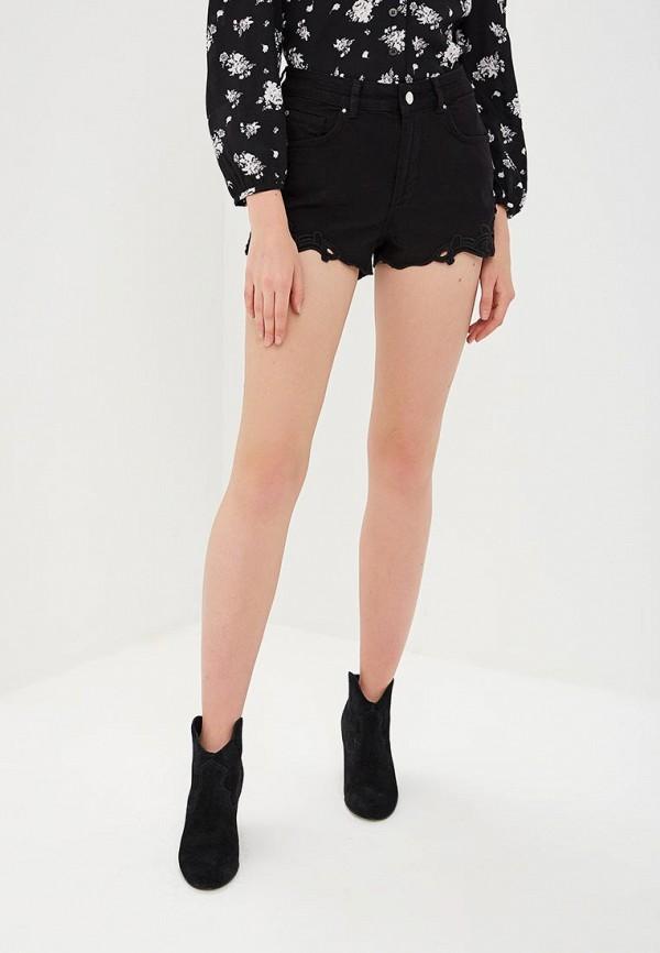 женские джинсовые шорты silvian heach, черные