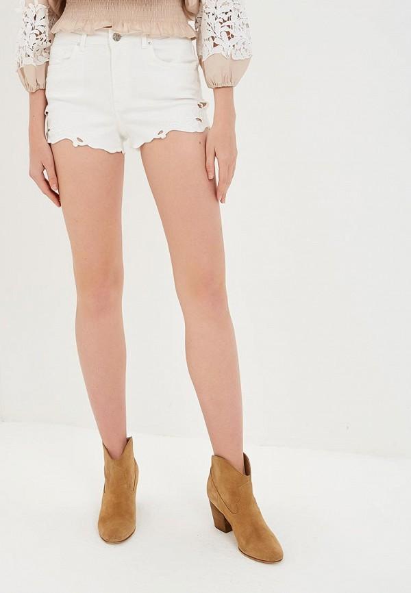 женские джинсовые шорты silvian heach, белые