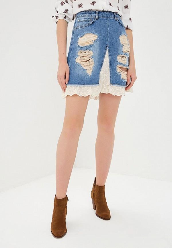 женская джинсовые юбка silvian heach, голубая