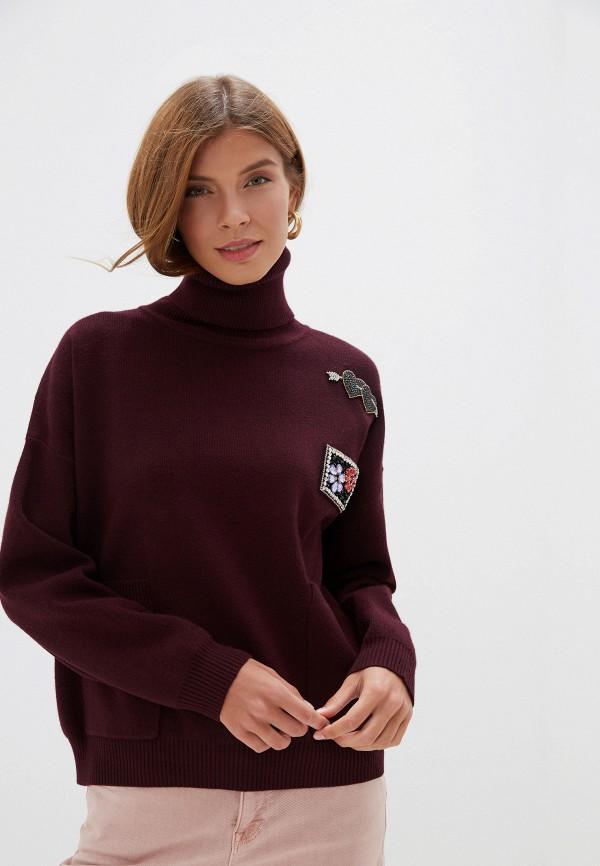 женский свитер silvian heach, бордовый
