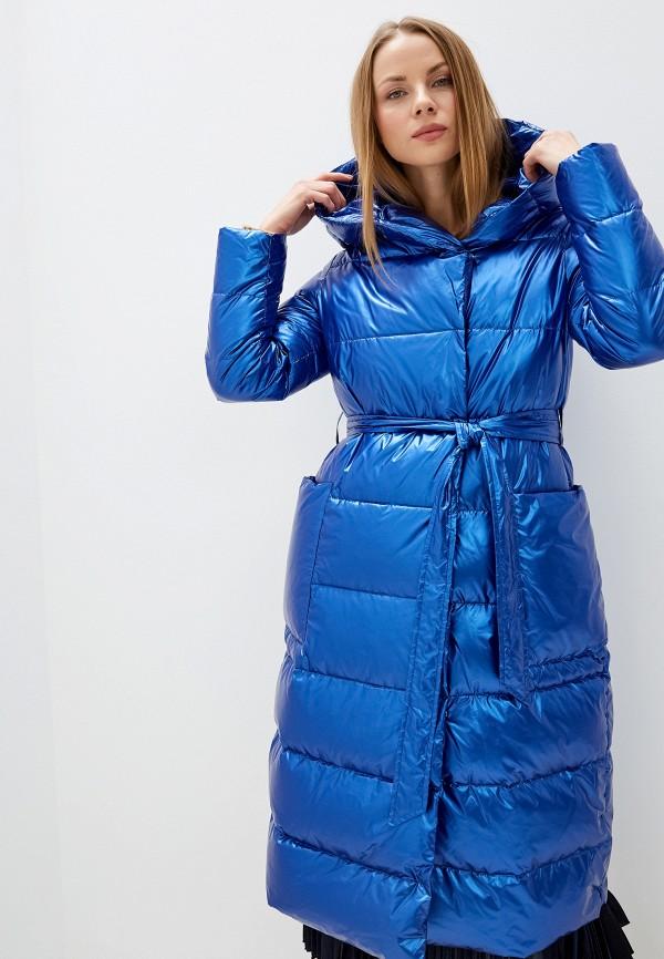 женский пуховик silvian heach, синий