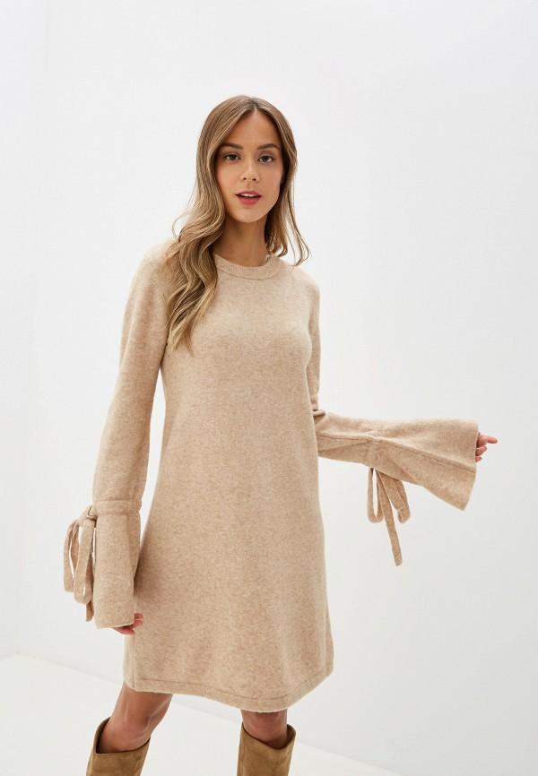 женское платье silvian heach, бежевое